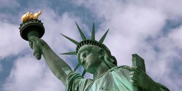 The Statue of Liberty is seen in New York Harbor, June 2, 2009. (Associated Press)