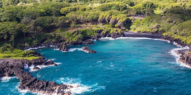 Keawaiki Bay in Wai'Anapanapa State Park is a hidden Hawaiian gem.