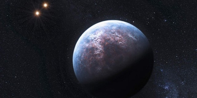 An artist's rendering image shows an exoplanet 6 times the Earth-size circulating around its low-mass host star.
