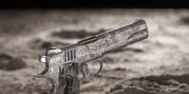 A high-end weapons company in the USA has produced what are the world's most expensive handguns at $2.25 MILLION EACH. See National News story NNGUNS; The 'Big Bang Pistol Set' consists of two handguns forged from the Gibeon meteorite, thought to be 4.5 billion years old. Their creator claims the luxury pistols are the first functional objects made from the meteor, which was discovered in Namibia, southwest Africa, in the 1830s. At a combined cost of $4.5 million, the pistols are said to be of interest to a 'hedge fund billionaire, tech-mogul, industrialist or Royal' when they go to auction at an unspecified date.