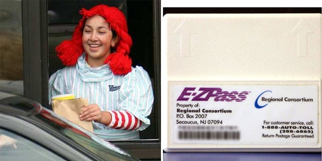 iDriveThru lets customers pay for fast food using the same technology  some people pay for tolls.
