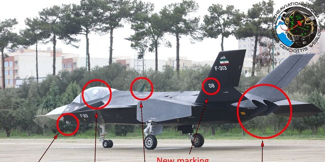 The new prototype of Qaher F-313 stealth fighter jet was unveiled Saturday and has five new features, indicated by David Cenciotti, editor at The Aviationist. (Tasnim News Agency/The Aviationist)