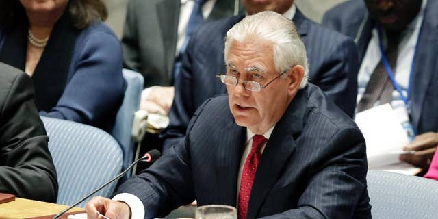 Secretary of State Rex Tillerson in April.