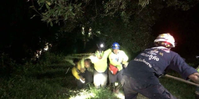 A vehicle carrying rescue workers crashed while looking for the boys trapped in a cave.