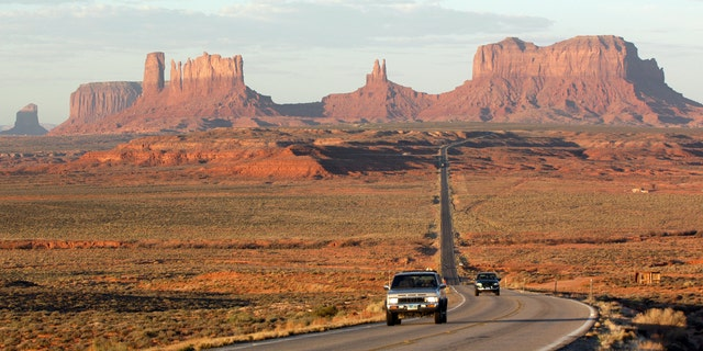 One of the original highways in the U.S., Route 66 stretches from Chicago to Santa Monica.