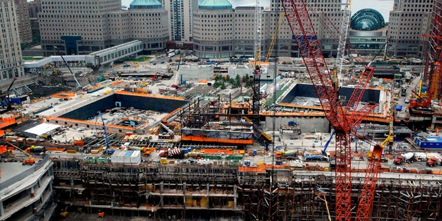 Sept. 9: Construction crews work at site of the World Trade Center, as New York City prepares for the 9th anniversary of the Sept. 11th terrorist attacks.