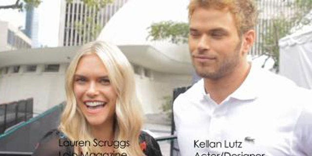 LoLo magazine editor and model Lauren Scruggs interviewing Kellan Lutz (LoLo/Vimeo)
