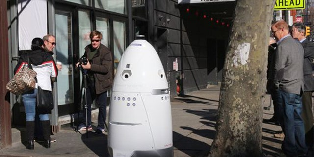Creators of the Knightscope have been beta testing the robot on the streets of New York in the hopes that it will lure investors.