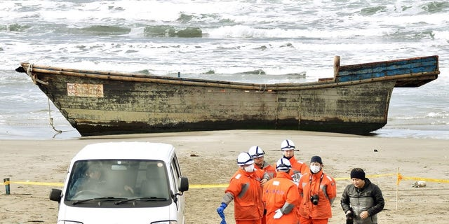 Eight skeletal remains were found in a boat late last year, one of the earlier gruesome discoveries.  (Kyodo via Reuters)