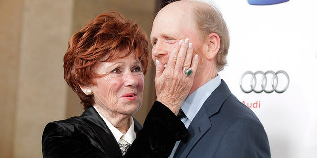 Marion Ross with Ron Howard.