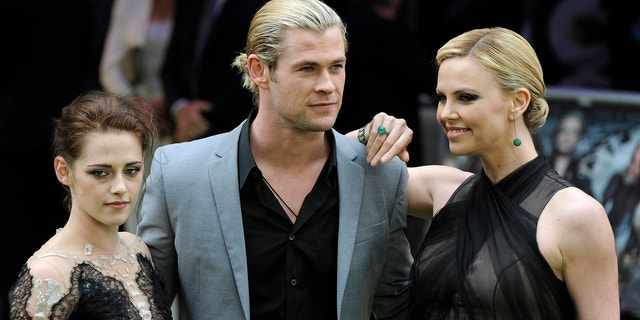 'Snow White and the Huntsman' stars Kristen Stewart, Chris Hemsworth and Charlize Theron.