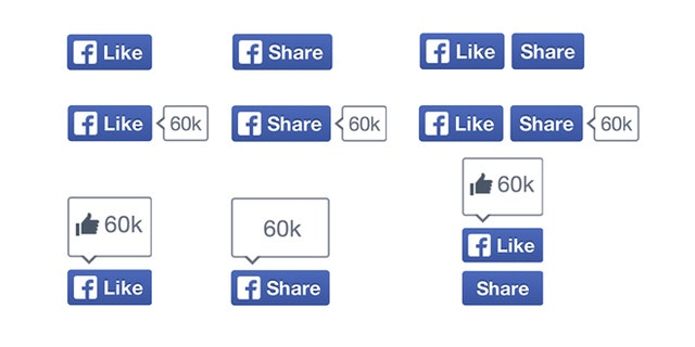 Facebook announced a new look for their Like and Share buttons.