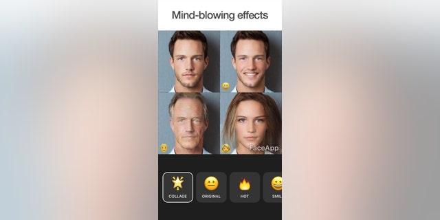 A screenshot of the FaceApp app. (Credit: FaceApp)