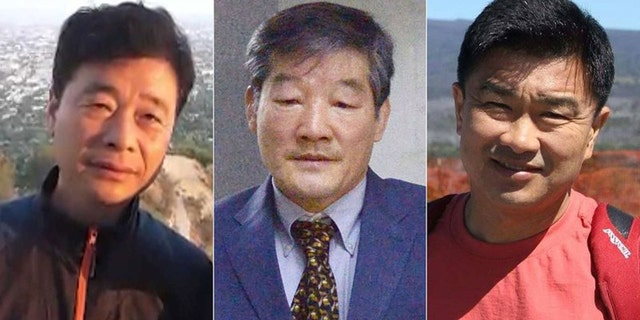 The three Americans being detained in North Korea: Kim Hak Song, left, Kim Dong Chul and Tony Kim.