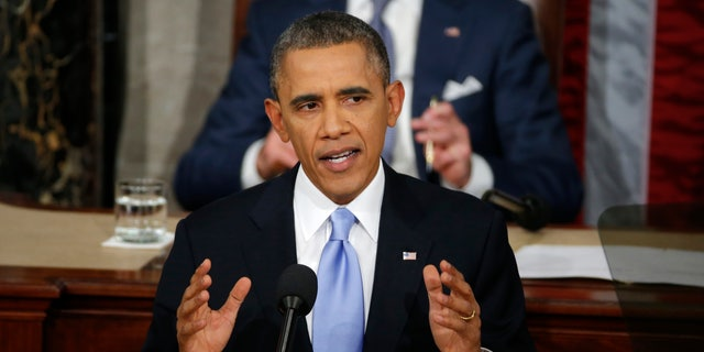 Jan. 28, 2014: President Obama delivers his State of the Union address on Capitol Hill in Washington.