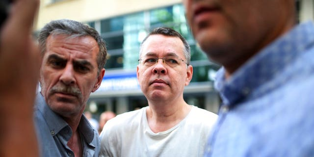 "Pastor Andrew Brunson is facing a 35-year sentence if convicted of the charges of ""committing crimes on behalf of terror groups without being a member"" and espionage"