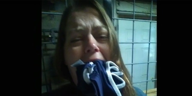 Thelma Williams allegedly filmed these scenes herself, which appear to show her bound and gagged.