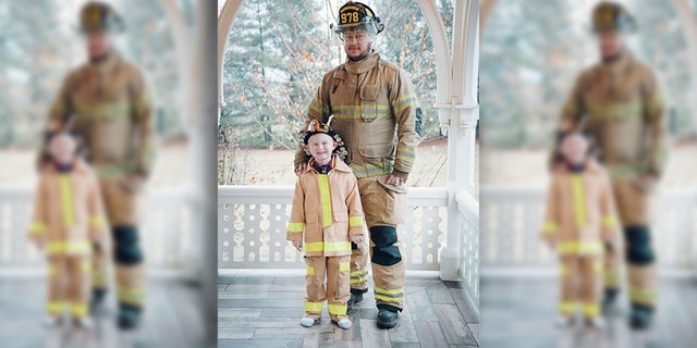 Christopher, who got to ride in a fire truck to school when he was a boy, wanted the same experience for his son.