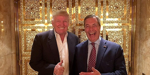 Trump has embraced Farage and suggested him as British ambassador.