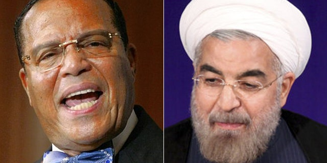 Louis Farrakhan, (l.), hung out in New York Tuesday night with new Iranian President Hassan Rouhani.