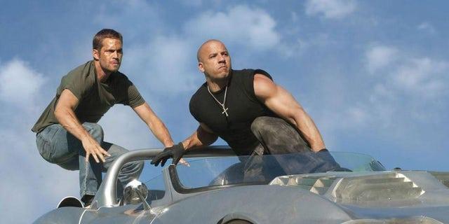 Paul Walker and Vin Diesel in 'Fast Five'