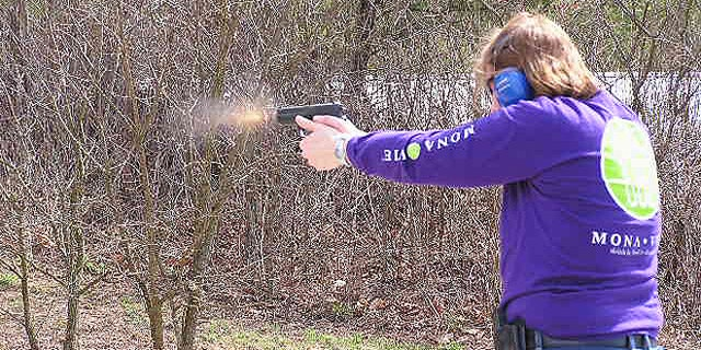 Teachers also participate in target practice to perfect their shot. (Buckeye Firearms Foundation)