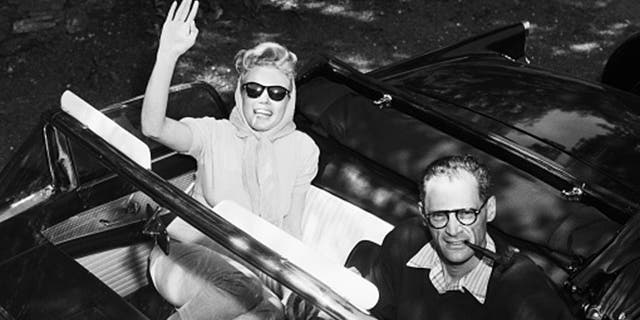 Monroe and Miller were often photographed in the car.