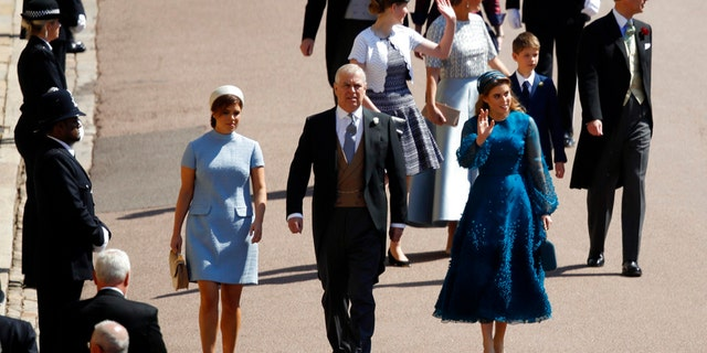 Princess Beatrice and Princess Eugenie opted for decidedly more conservative hats than those they sported to the Duke and Duchess of Cambridge's 2011 wedding.
