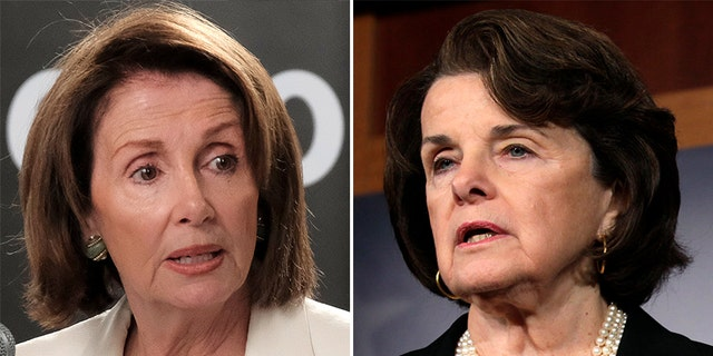 House Minority Leader Nancy Pelosi, left, and Sen. Dianne Feinstein, right, have each faced a backlash from the liberal base for opening the door to dealing with President Trump.