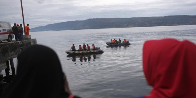 Several dozen divers and up to 350 others searched Lake Toba, which has depths of more than 1,000 feet, but only found personal belongings and traces of oil.