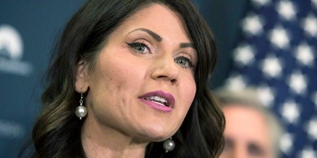 South Dakota Gov. Kristi Noem is seen in Washington, when she was a member of Congress, Dec. 5, 2017. (Associated Press)