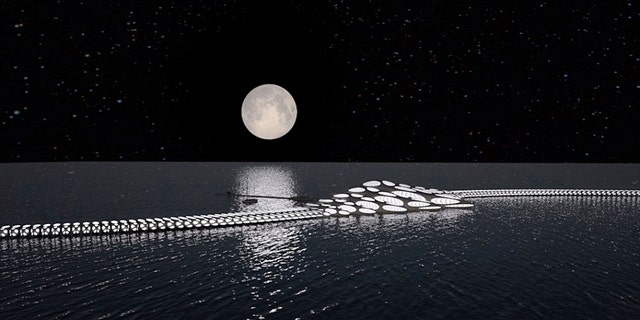 It's designed with integrated solar panels, rainwater harvesting and a floating vegetable garden.