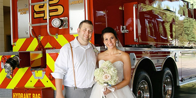 The newlyweds added that the fact Bourasa was able to help out with the emergency made their wedding a day they'll remember forever.