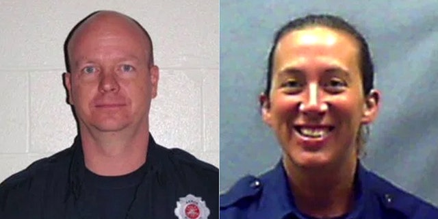 Lt. Art Dean (left) and Provisional Lt. Deann Eller (right) have both been placed on administrative leave after allegations emerged they filmed pornographic videos in a fire house.