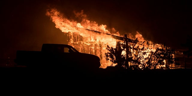 The fires broke out in California on Monday night.