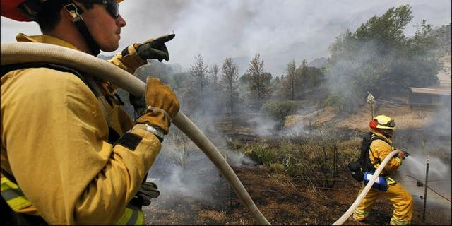 Firefighters in California are fighting several blazes, the worst of which are in the northern part of the state. (AP)