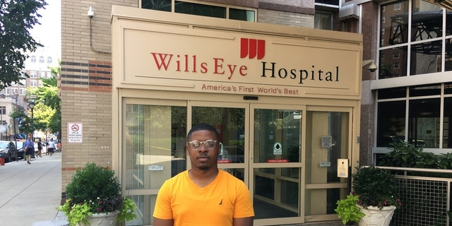 Rasaan Urquhart, 25, says he's back on his feet after losing sight in one eye after a fireworks injury after the Super Bowl.