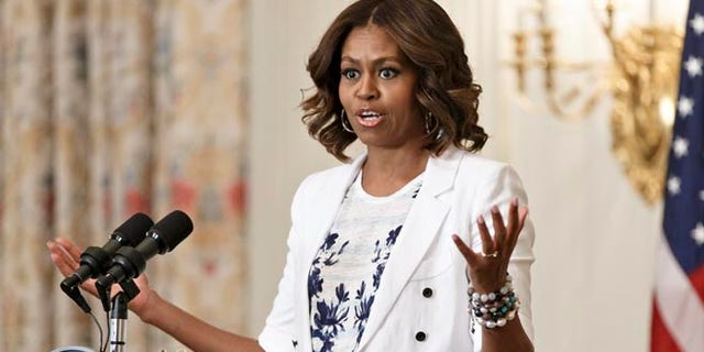 July 22, 2014: First lady Michelle Obama at an event at the White House, in Washington, D.C.