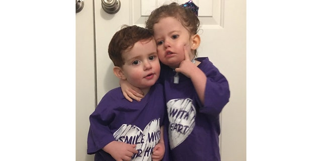 Even though Addison can't speak, she and her brother Jackson communicate using sign language.