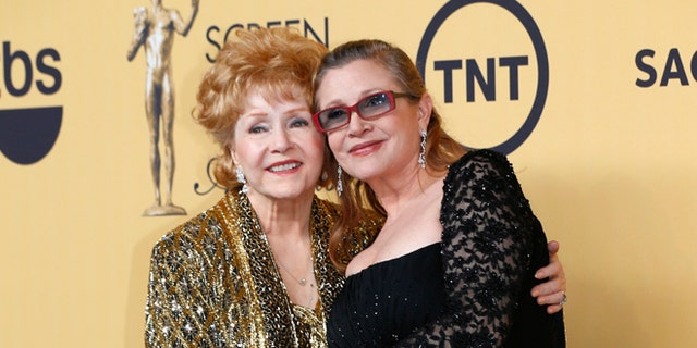 Debbie Reynolds and daughter Carrie Fisher.