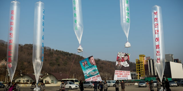 The flash drives are often sent into North Korea with balloons.