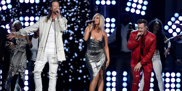 """Bebe Rexha and Florida Georgia Line's hot hit """"Meant To Be"""" may win them single of the year."""