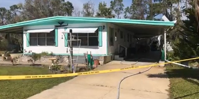 A brother and sister on a flying lesson were injured after a small plane crashed into a home in Florida.