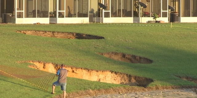 Multiple sinkholes have opened up in a neighborhood in Ocala, Florida in the past week.