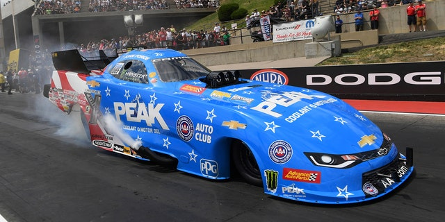 Force, seen here in his Chevrolet Camaro SS, beat Ron Capps, who is the second most-winningest NHRA Funny Car driver.