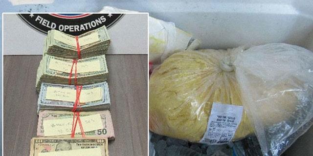 Border Patrol agents found $54,000 hidden inside tortilla dough.