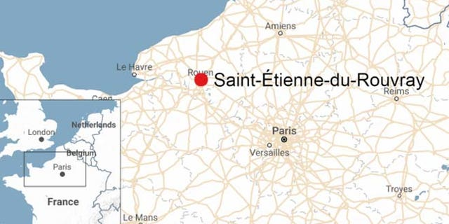 The church is in the French region of Normandy.