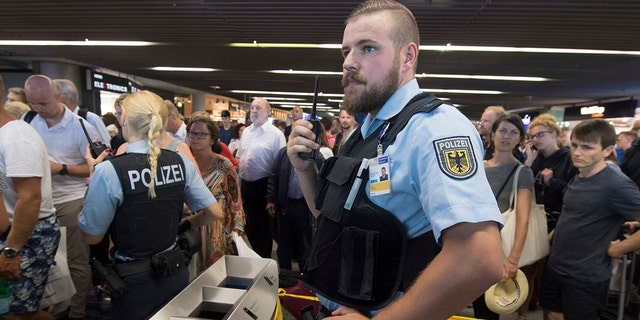 Federal police cleared the Terminal 1 for about two hours.