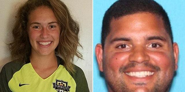 Caitlyn Frisina, left, was found in Syracuse, N.Y. with Rian Rodriguez, right, on Dec. 1.