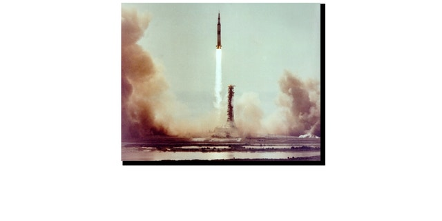 July 16, 1969: This image captures the launch of Apollo 11 on the first manned space mission to land on the Moon.